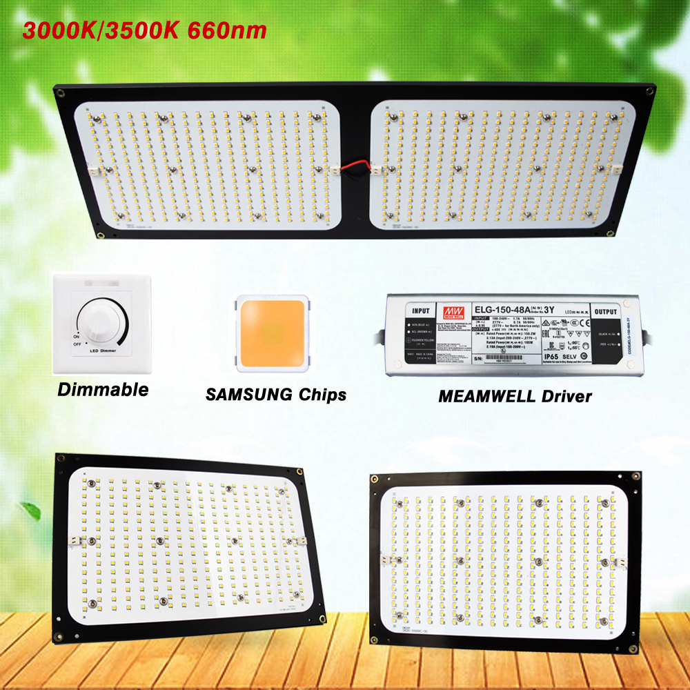 Samsung LM301B/LM561C Quantum Aluminum Board Led Grow Light 120W 240W Dimmable Full Spectrum 3000K/3500K Mix Red Light Phytolamp