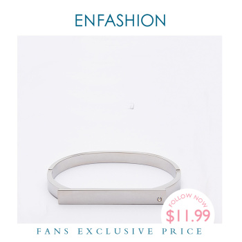 Enfashion Personalized Custom Engrave Name Bangle Flat Bar Cuff Bracelet Gold Color Bracelets For Women Bracelets Bangles B8717 enfashion personalized custom engrave name bracelet stainless steel flat bar cuff bracelet gold color charm bracelets for women