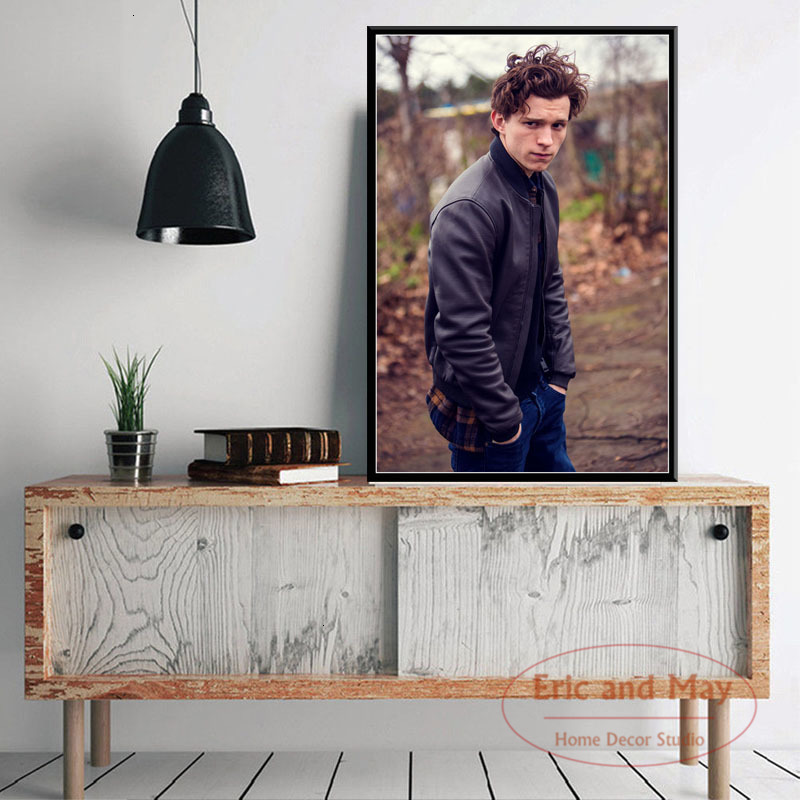 Tom Holland Movie Actor Star Spider-Man Art Painting Vintage Canvas Poster Wall Home Decor image