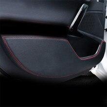 Защитная пленка из волоконной кожи для автомобильной двери для Hyundai Tucson (2006-2019), кожаная защитная пленка для двери, наклейки, боковая пленка