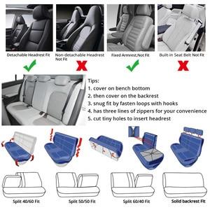 Image 5 - 7PCS TRACK รายละเอียดสไตล์รถที่นั่งครอบคลุมชุดผ้าโพลีเอสเตอร์ Universal เหมาะกับรถยนต์ส่วนใหญ่ครอบคลุมรถที่นั่ง Protector