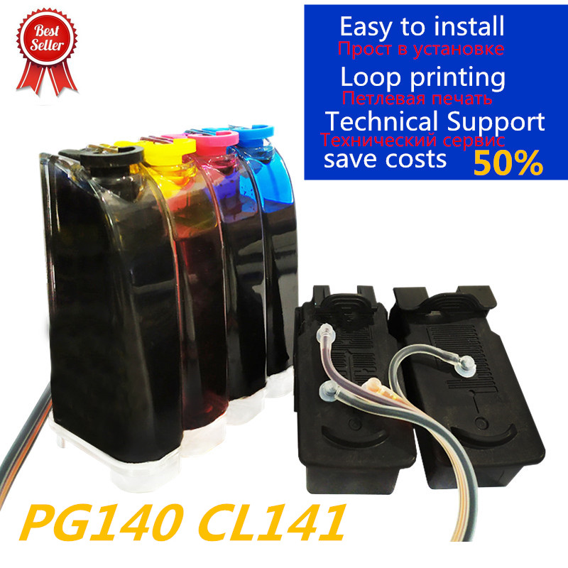 PG140 CL141 Compatible CISS Replacement For Canon PG 140 CL 141 Continuous Ink Supply For Pixma IP2880 MG2580 MG2400 MG2500