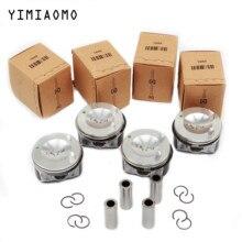 06H 107 065 AM Pin 21mm Engine Pistons & Ring For VW Jetta Passat CC AUDI A3 A4 Q5 TT Skoda Seat 2.0 TSI 82.51mm 06H198151B