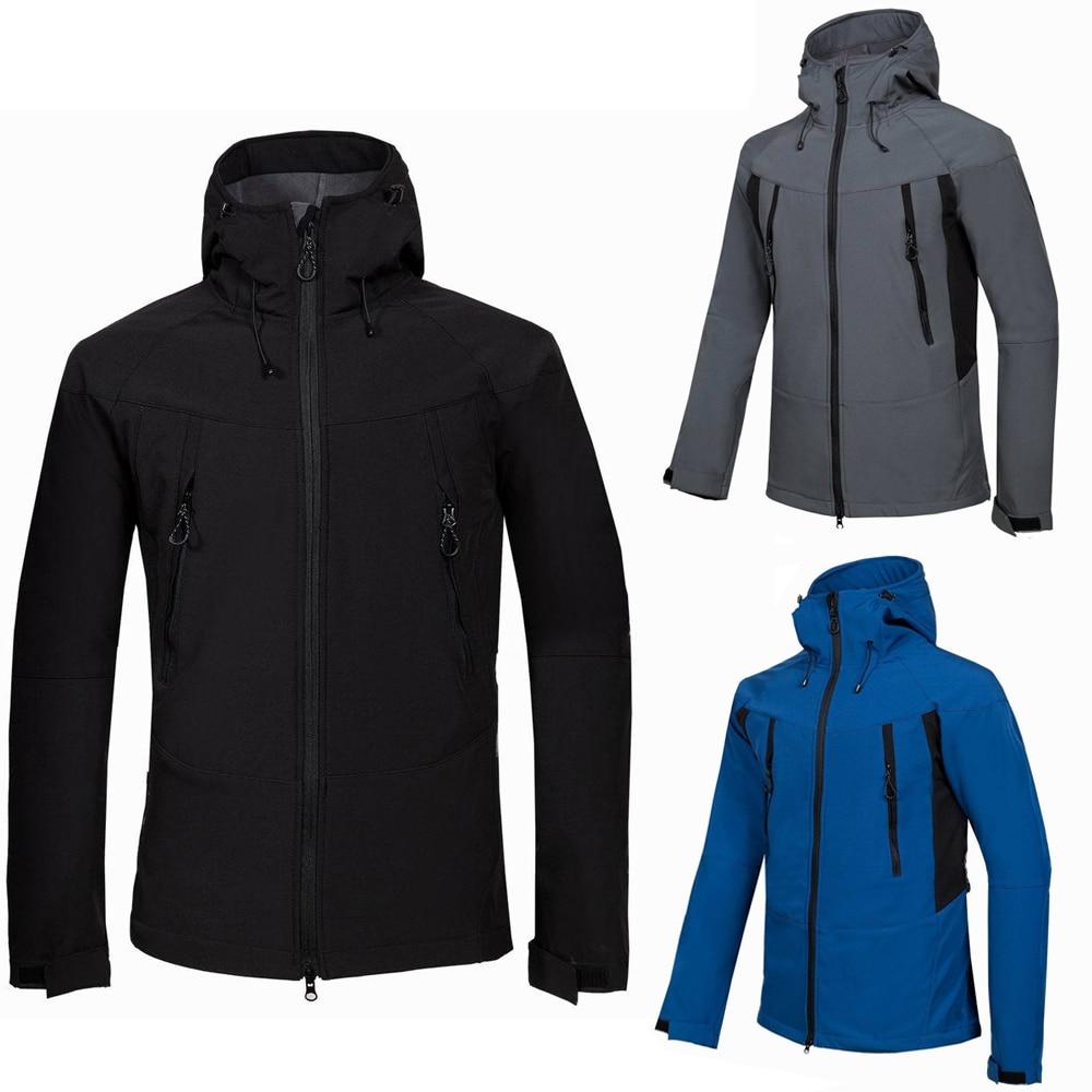 Winter Jacket Men Snowboard Jackets SoftShell Warm Waterproof Windbreaker Outdoor Camping Trekking Hiking Hunting Coat Clothes