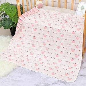 Image 5 - Cobertor do bebê 110x110 cm musselina algodão 6 camadas grosso recém nascido swaddling outono bebê swaddle cama dos desenhos animados recebendo cobertor