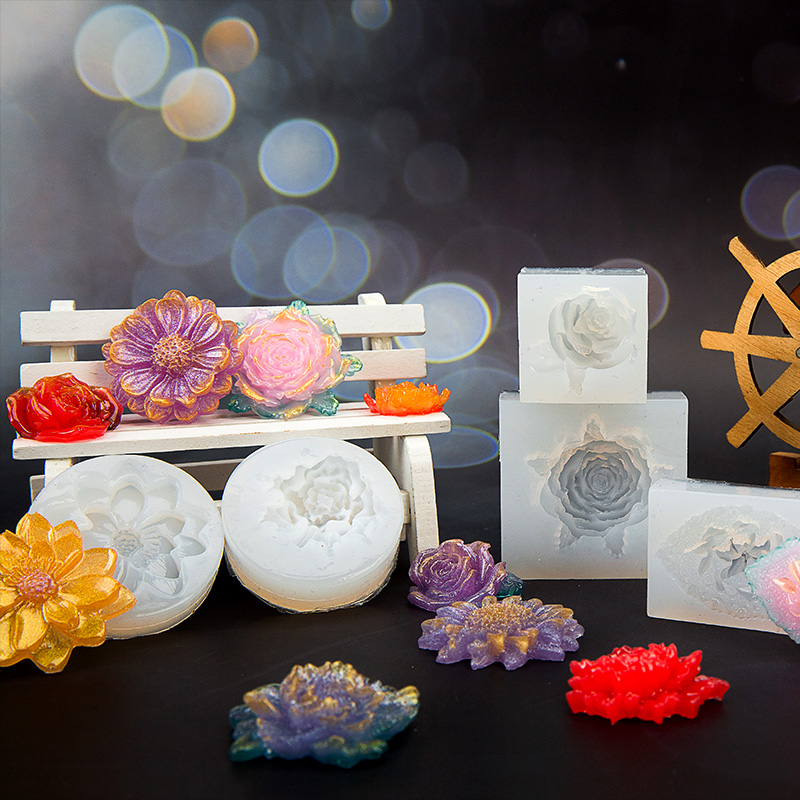 DIY Silicone 3D Flower Moulds Mold Resin Jewelry Pendant Making Tool Crafts New