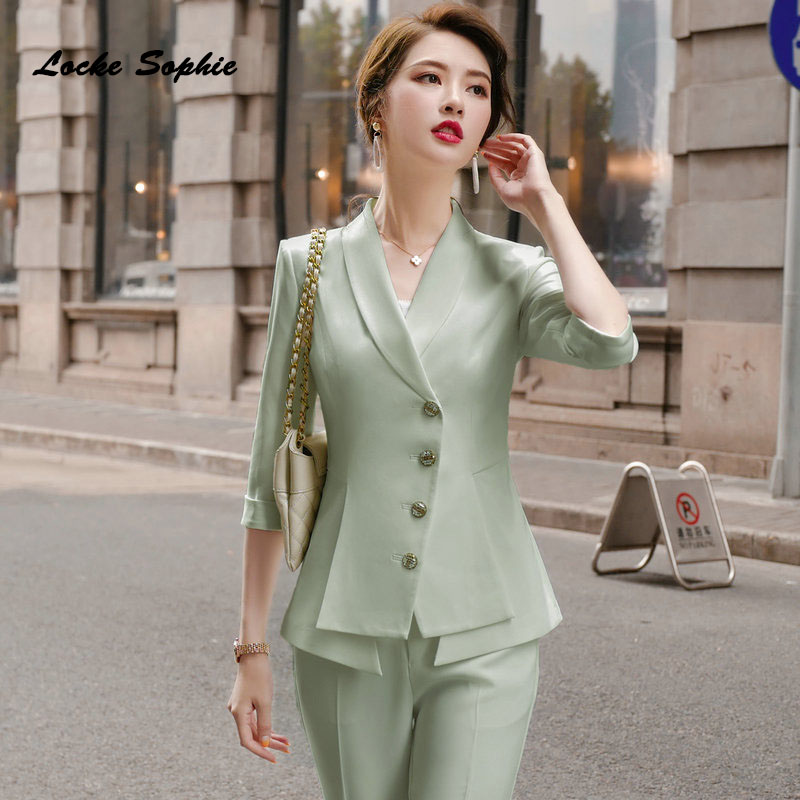 Women's plus size Blazers coats 2020 Autumn Cotton Single breasted irregular Small jackets ladies Skinny office Blazers Suits
