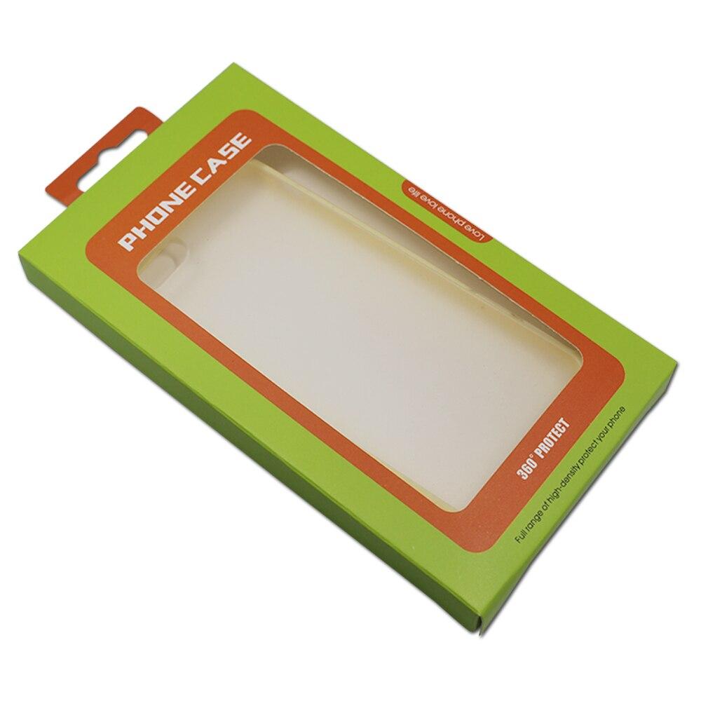 Dhl 250 pçs/lote 9*16*1.5cm 2 projetos caixa de papelão papel pacote para celular caso do telefone móvel capa embalagem com janela pendurar buraco - 2