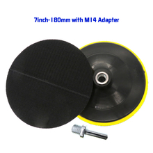 Backing-Pad Attachment-Adapter M14-Drill Rotary 7inch with Hook And Loop Car-Polishing-Cleaning-Pad