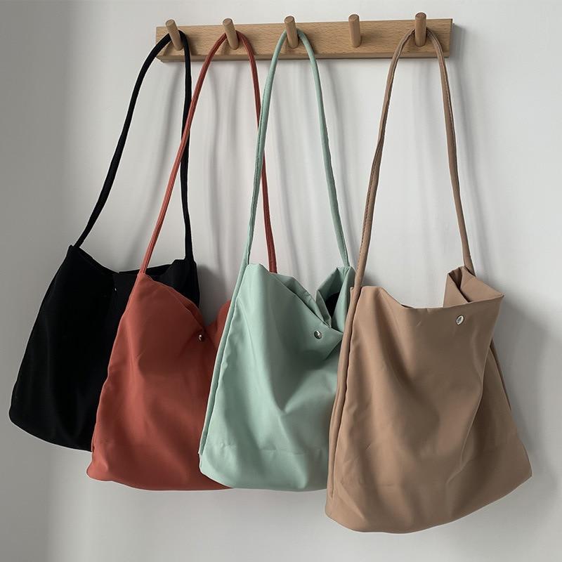 2020 New Nylon Canvas Shoulder Bag for Women Cotton Cloth Female Student Messenger Bag Large Eco Shopping Tote Bags Handbags