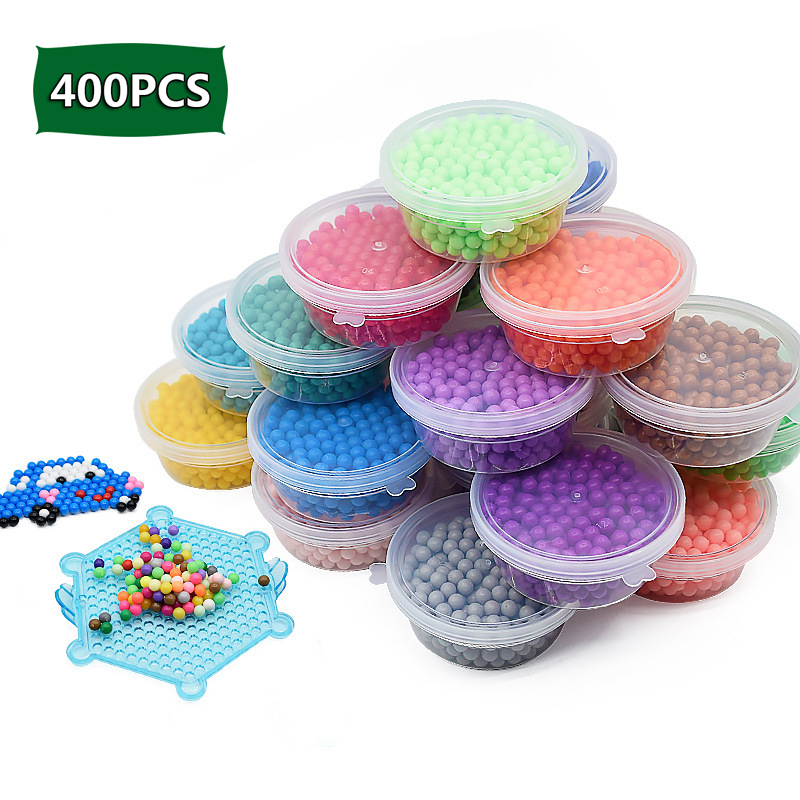 New 400pcs/set Water Beads Spray Magic Beads Kit Ball Beads Puzzle Game Fun DIY 3D Puzzle Educational Toy For Children Girl Gift
