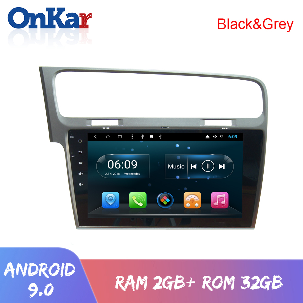 ONKAR <font><b>Android</b></font> 9.0 Car Multimedia Player For VW VolksWagen Golf <font><b>7</b></font> 2013-2015 Built in Mirror link Wifi Bluetooth Radio <font><b>10</b></font>.1 <font><b>inch</b></font> image