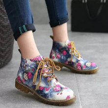 Women Ankle Martin Boots Autumn Female Casual Shoes Woman Flat Fashion Platform Round Toe Lace Up Мартин сапоги 88816327