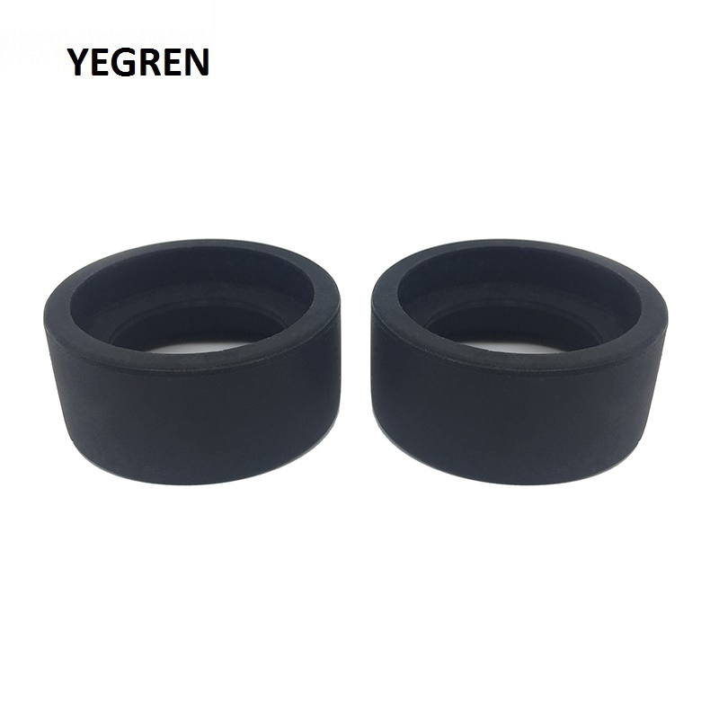 One Pair Eye Cups Foldable Rubber Eye Guards Caps For 34-38 Mm Microscope Eyepiece Telescope Inner Diameter 36 Mm Accessory
