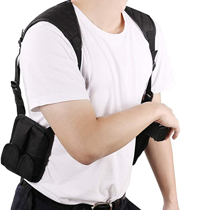 Pc Double Coldre Shoulder Airsoft Handgun Holder Holsters Concealed Carry Dual Pistol Pouch Gun Holster Case Hunting Accessories