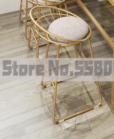 M8 Nordic Marble Bar Table Wrought Iron Net Red High Table Home Living Room Partition Cabinet Simple Modern Bar Chair