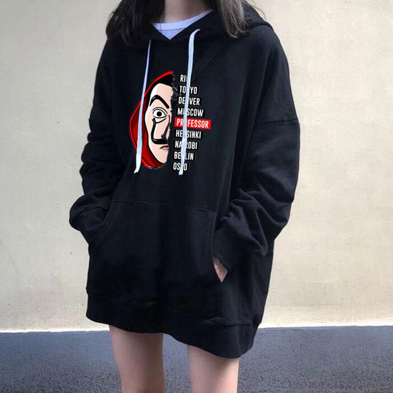 La Casa De Papel 3D Print Hooded Sweatshirts TV Series Pullovers  Women Hoody Hoodie Fashion Casual House Of Paper Hoodies