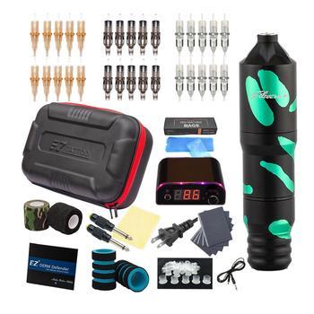 EZ Tattoo Kits Filter V2 Plus Cartridge Rotary Tattoo Machine Pen Tattoo Needles Power Supply Tattoo Accessories Kits ez tattoo power supply ipower watch car charger 100