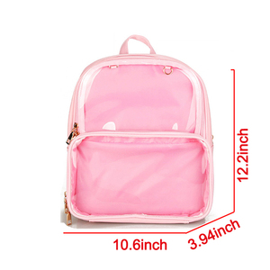 Image 4 - 귀여운 명확한 투명한 여자 배낭 PVC 젤리 컬러 학생 Schoolbags 패션 Ita 십대 소녀 가방 학교 배낭에 대한 새로운