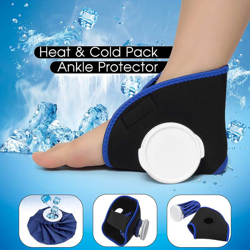 6'' Ice Bag Pack Protector Elastic Tie Belt Set Reusable Knee Head Leg Injury Pain Relief Ice Bag Outdoor Sport First Aid