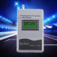 Contador de frequência digital display lcd de 7 dígitos para o transceptor de rádio em dois sentidos gsm 50 mhz-2.4 ghz gy560 medidor de contador de frequência