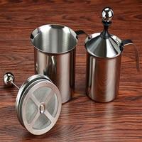 الحليب Frother الفولاذ المقاوم للصدأ 400cc مزدوج دليل الحليب Frother القهوة الحليب Frother الحليب Frother كوب الحليب Frother|صفيحة تكرير القهوة|   -