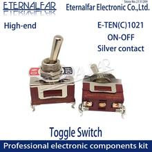 High-end E-TEN1021 Quality Silver Contact SPST 12MM 15A 250V AC ON-OFF 2Pin Reset Rocker Toggle Slide Switch Waterproof