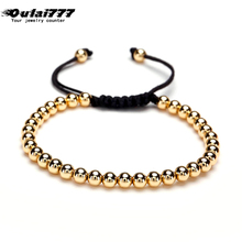 oulai777 2019 stainless steel bead bracelet men adjustable mens women accessories personalized jewelry
