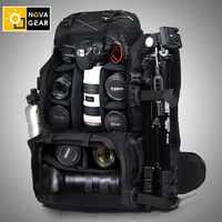 NOVAGEAR genuino impermeable a prueba de golpes al aire libre gran capacidad bolsa de cámara SLR 80302