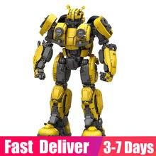 Em estoque 3500 peças ideal bumblebeed robô modelo bloco de construção principal transformador tijolos conjuntos brinquedos para crianças presentes