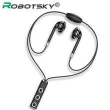 BT313 Bluetooth Earphones Wireless Magnetic Hanging Neck Headphones Noise Conceling Handsfree With Mic for Xiaomi RedMi Huawei