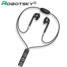 BT313 Bluetooth Oortelefoon Draadloze Magnetische Opknoping Hals Hoofdtelefoon Noise Conceling Handsfree Met Microfoon Voor Xiaomi Redmi Huawei