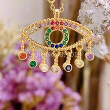 Women Pendant Necklace,10pcs or 20pcs,Fashion Jewelry, Pop Charms, Eyes Design, Gold Colrs, Can Wholesale,