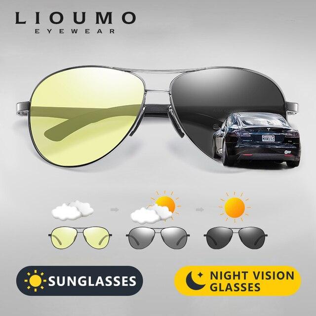 Fashion Klassieke Luchtvaart Zonnebril Mannen Vrouwen Gepolariseerde Meekleurende Voor Pilot Zonnebril Dag Night Eyewear Gafas De Sol Hombre
