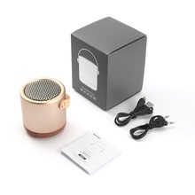 Portable Metal Mini Speaker 5W Wireless Speaker with TF Card Enhanced Super Bass for Smartphone Tablet Computer(China)