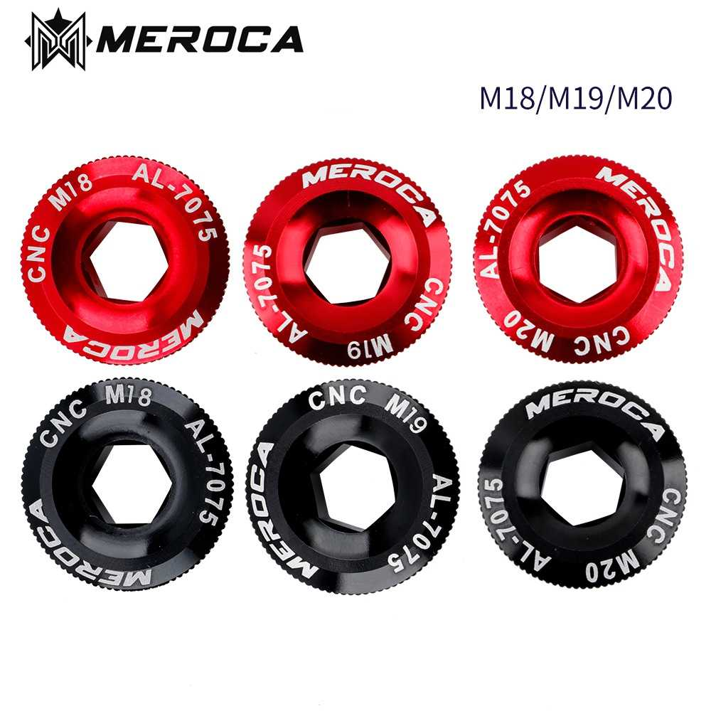 Crank Arm Fixing Bolt Aluminum Alloy M18 Cover Cap Fit for FC-4500 and FC-5600 MEROCA 2PCS Crank Screw M18mm M20mm for Shimano Bicycle Crank Arm Bolt