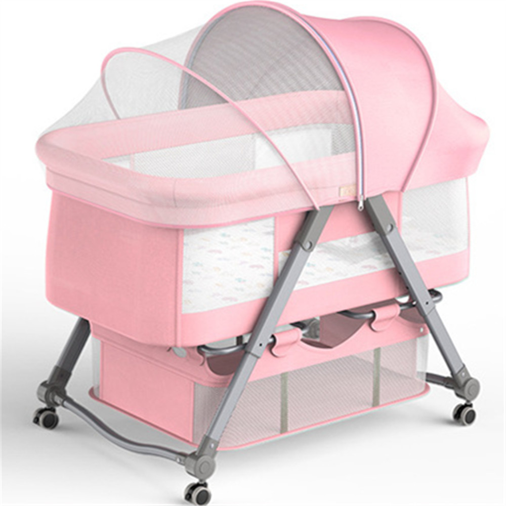 Baby Cradle Crib for Newborn Bed Match with Large Bed Baby Shaker Bassinet Multifunction Travel Baby Nest Portable Cribs