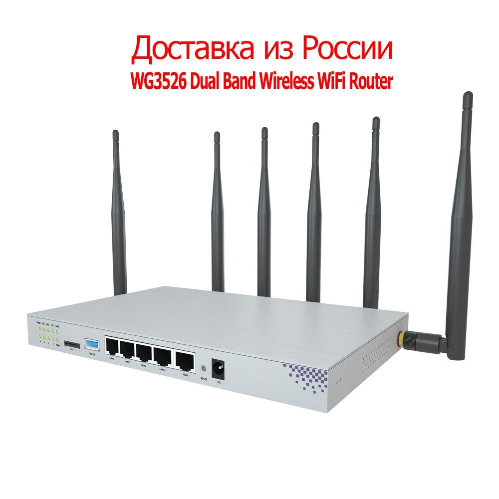 ZBT 4G LTE роутер WG3526 двухdand Gigabit Openwrt беспроводной WiFi роутер со слотом для SIM-карты Сеть 3G 4G WiFi роутер расширения