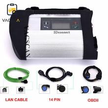 Volle Chip SDConnect C4 Kompakte 4 Stern-Diagnose-Tool Xentry das Auto Lkw diagnose werkzeug SD C4 mit Wifi (12V + 24V)