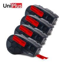 UniPlus Compatible for Brady M21-500-595-RD Label Maker 4pcs Vinyl 12mm Labeling Tapes Cassette BMP21 Plus IDPAL