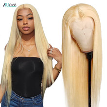 30inch 613 Blonde Lace Front Wig Human Hair Wigs For Women Transparent Lace Frontal Wig Blonde Bone Straight Human Hair Wig