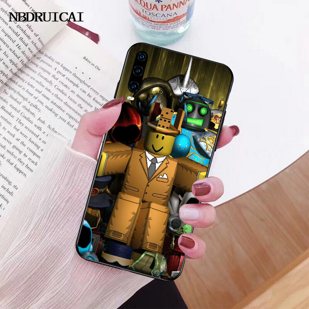 NBDRUICAI شعبية لعبة Roblox شعار غطاء إطار هاتف محمول لهواوي P30 P20 P10 P9 P8 ماتي 20 10 برو لايت