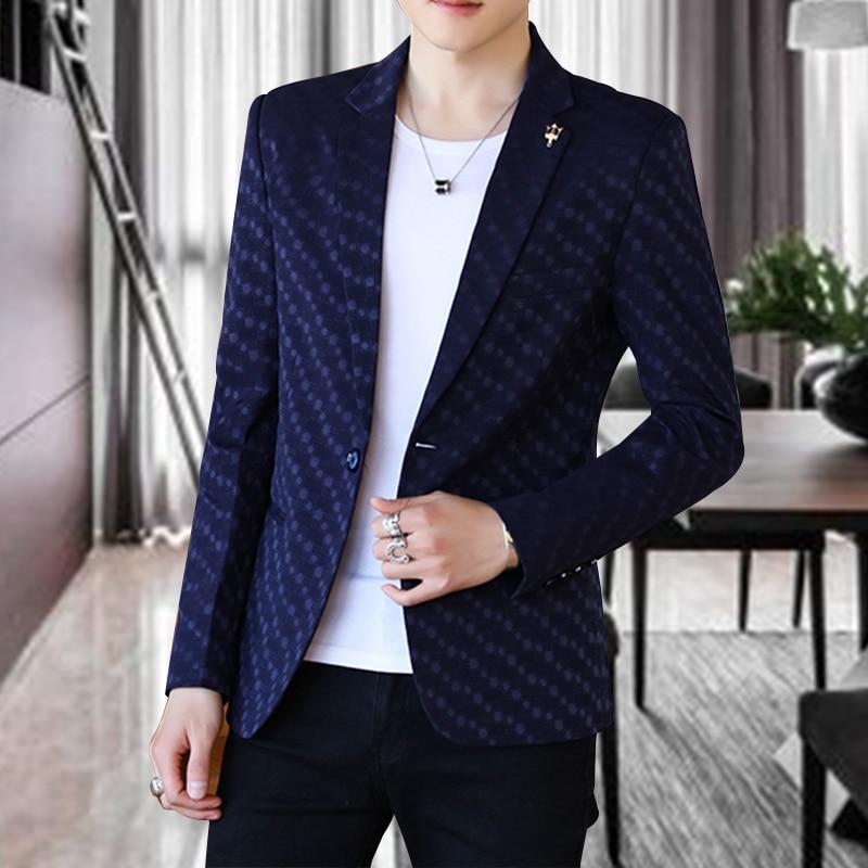 Royal Blue Short Blazer Men Casual Male Suit Jackets Blazer Coat Slim Fit Jacket Formal Traje Lentejuelas Gents Suits JJ60XX