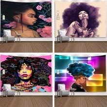 Mandala Room Decoration African Women Printed Wall Hanging Decor Mural Indoor/Outdoor Accessories decoracao para quarto T63 pro t63