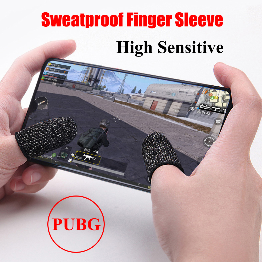 1 Pair Mobile Game Finger Cots for PUBG Stall Sensitive Sweatproof Breathable Sleeve Gaming Accessories for iPhone iOS Android-in Cases from Consumer Electronics