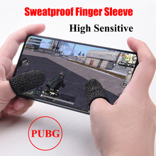 1 Pair Mobile Game Finger Cots for PUBG Stall Sensitive Sweatproof Breathable Sleeve Gaming Accessories for iPhone iOS Android