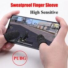 1 par Jogo Berços do Dedo para PUBG Tenda Móvel Sensível Sweatproof Respirável Manga Acessórios de Jogos para iPhone iOS Android