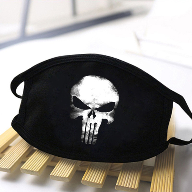 Fashion Skull Printed Unisex Mouth Mask 2020 Black Casual Masks Mouth Half Muffle Face Mask Kpop High Quality Skin Friendly Mask