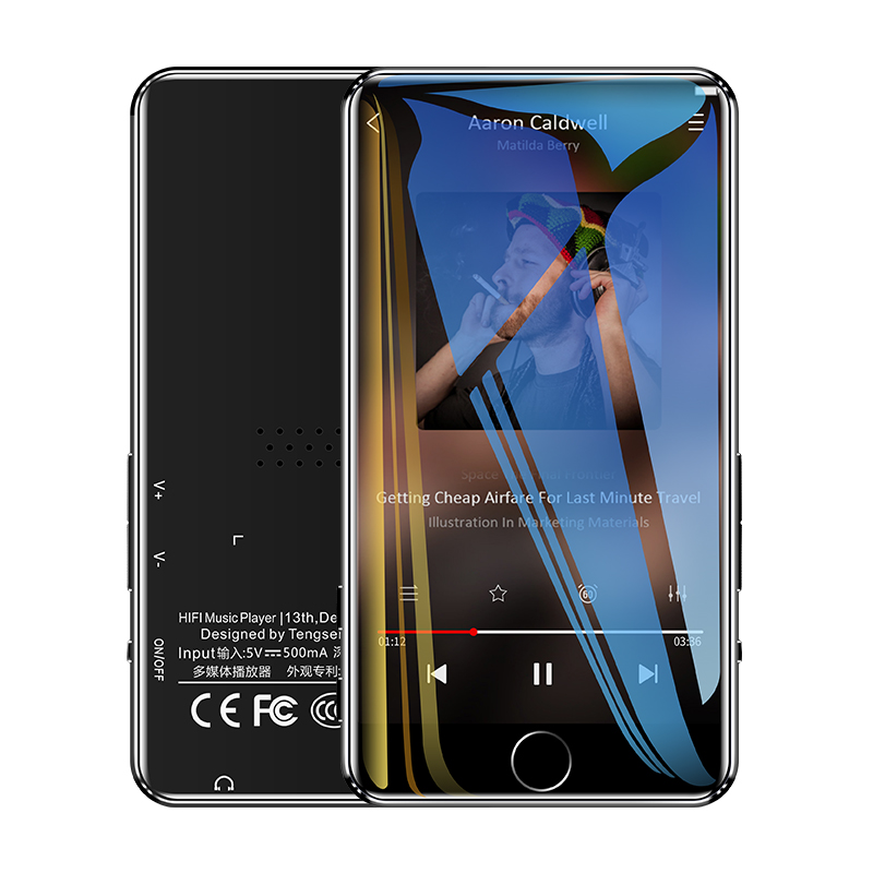 IQQ C88 bluetooth 5.0 <font><b>MP3</b></font> <font><b>Player</b></font> 8GB HIFI Lossless 3.0 inch 1080P <font><b>HD</b></font> Video Music Support FM E-Book Loudspeaker video playback image