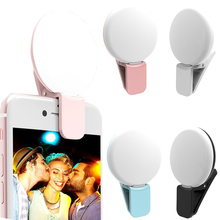 Coolreall Mini Q Selfie Ring Light Portable Flash LED USB Cl
